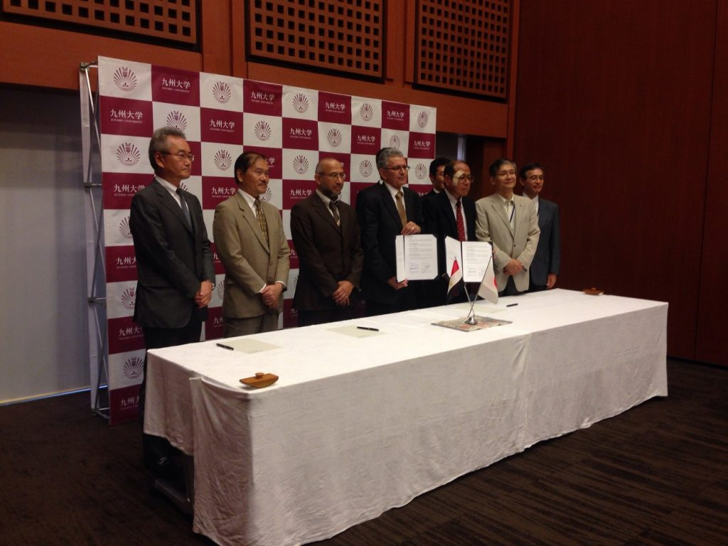Signing of Double Degree Program Agreement with Kyushu University