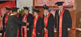Graduate ceremony for first graduate of E-JUST Students